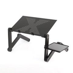 관절접이 노트북테이블(42x26cm) (블랙)/ 베드테이블