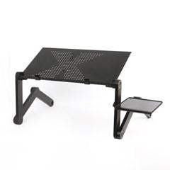 관절접이 노트북 테이블(48x26cm) (블랙)/ 베드테이블