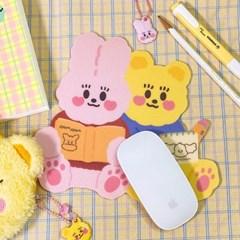 코지 토비&써니베어 마우스 패드