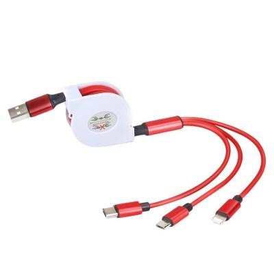 3in1 고속충전 릴케이블 / C타입 멀티케이블