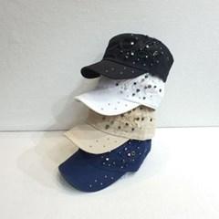 비즈 챙넓은 블랙 네이비 데일리 패션 군모 모자