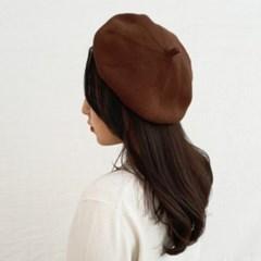 기본 심플 겨자 브라운 데일리 패션 베레모 모자