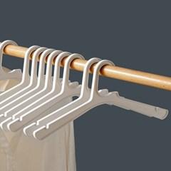 매장 홈 모던 화이트 인테리어 부자집 슬림옷걸이 6P_(1307176)