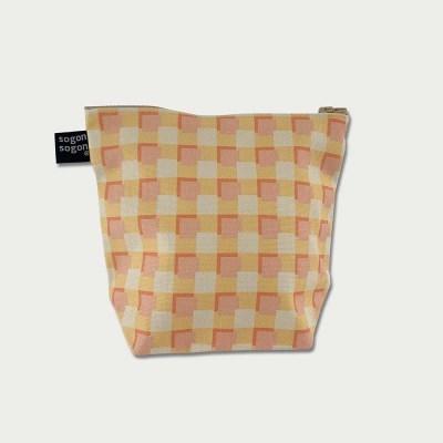 orange square pouch