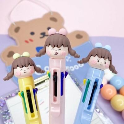 [맙소사잡화점] 말괄량이 소녀 8색 볼펜