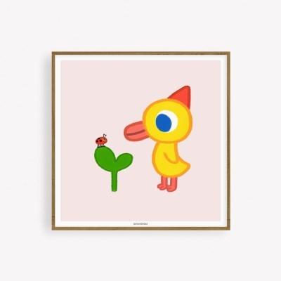 굴리굴리 포스터 / LADYBUG AND ROI ( 079 ) (액자포함)