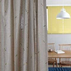 예쁘다 가리개 커튼 - 오트밀 아이방 주방 린넨 거실 작은방