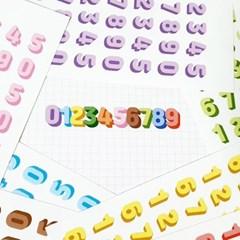 겹쳐쓰는 숫자 그림자 스티커-11컬러