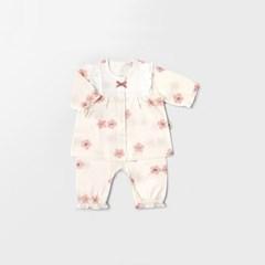 [메르베] 벚꽃 신생아 아기내복/내의/아기실내복_여름용_(1589992)