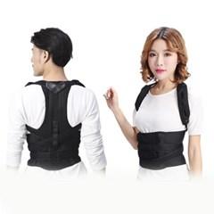 BIBIKA 교정밴드 어깨 허리 척추 거북목 교정기구 검정
