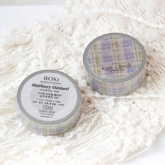 Knit Check Masking Tape [Blueberry Oatmeal]