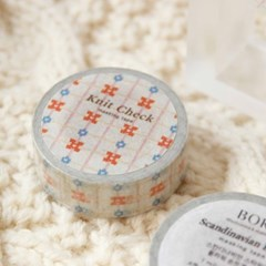 Knit Check Masking Tape [Scandinavian Bloom]