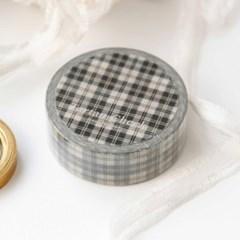 Tartan Check Masking Tape [Creamy Balck]