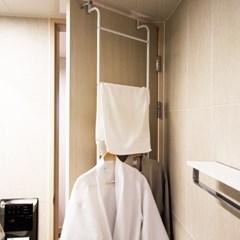 화이트메탈 문걸이 주방 화장실 욕실 수건 걸이
