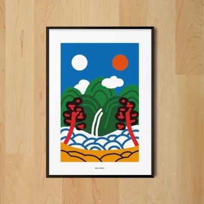 일월오봉도 M 유니크 인테리어 디자인 포스터 한국화 풍수