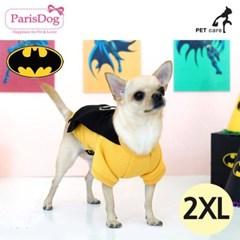 패리스독 배트맨 왐 케이프 티셔츠 블랙 2XL