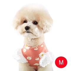 강아지 플라워 엔젤 티셔츠 핑크 M