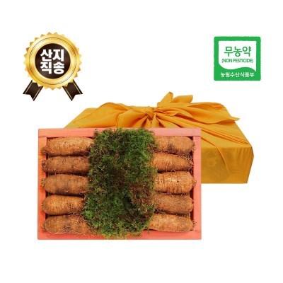 (농부와아내) 무농약 3년근 황토 더덕선물세트 1.8kg 1호 (10~12개)