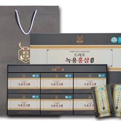 6년근 드리오 녹용 홍삼 70mlx30포 파우치형 쇼핑백 선물세트 포장