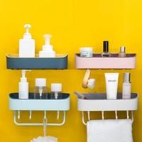 무타공 투톤 깔끔한 욕실선반 주방 정리