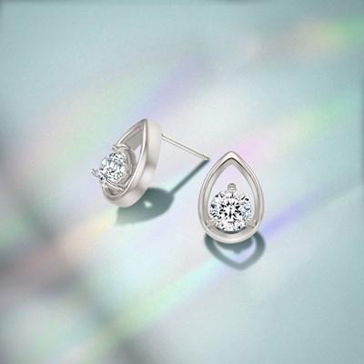 티어 실버 귀걸이 (백스톤C) [CE0091SM]