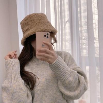 리버시블 양면 뽀글이 모자 양털 벙거지 버킷햇 3color