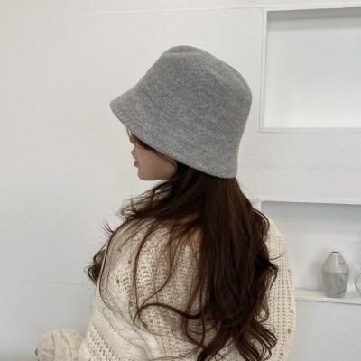 니트 벙거지 사계절 여자 버킷햇 모자본
