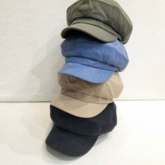 기본 심플 카키 데일리 패션 헌팅캡 마도로스 모자