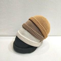 무지 기본 브라운 블랙 데일리 와치캡 비니 모자