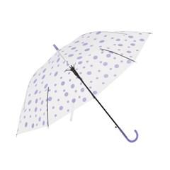 도트 패턴 반자동 장우산 / 반투명우산