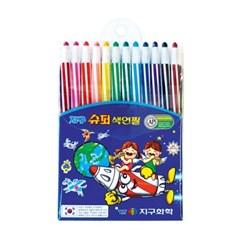 12색 슈퍼 샤프식색연필 / 돌돌이 미술 색연필