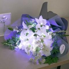 LED에비겔백합꽃다발 60cmP 조화 성묘 꽃다발 FMBBFT