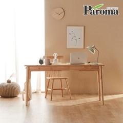 파로마 오니쉬 고무나무 원목책상 컴퓨터책상 1500