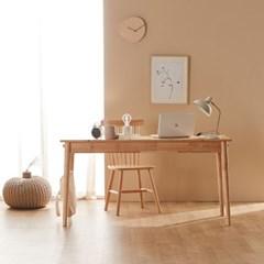 파로마 오니쉬 고무나무 원목책상 컴퓨터책상 1800