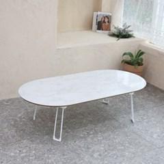 타원형 프리미엄 자작나무 테이블 120x60cm