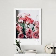 온리 모란 목단 꽃 그림 인테리어 액자