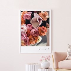 그레이스 모란 목단 꽃 그림 인테리어 액자