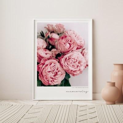 메모리즈 모란 목단 꽃 그림 인테리어 액자