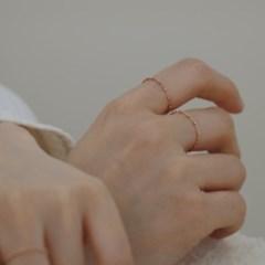 14K gold dot chain ring