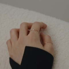 14K gold link chain ring