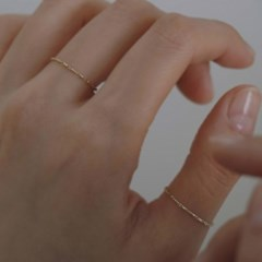 14K gold rope chain ring