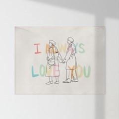 인테리어 패브릭 포스터_사랑