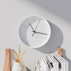 플랫오디너리 민들레 미니멀 무소음벽시계