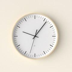 자작나무 미니멀화이트 무소음벽시계