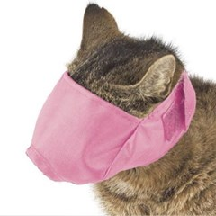 M블랙 고양이 입마게 머즐 마스크 애완묘 입커버