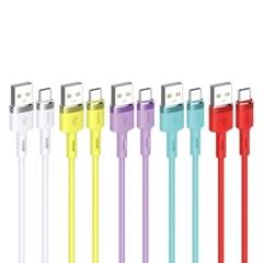컬러 패션드 리퀴드 실리콘 고속충전케이블1.2m C타입 5색상