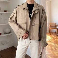 프리미엄 엔트 오버핏 숏 야상 자켓 3color