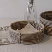 모노밀 라운드 플랫 바스켓 (2size)