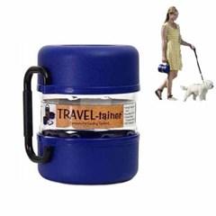 비틀볼트 트레블 테이너 강아지 사료보관함 블루