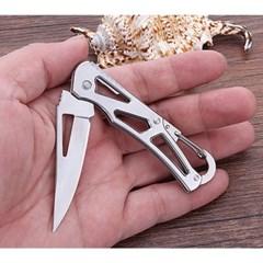 카라비너 접이식 캠핑칼 / 등산 폴딩 주머니칼